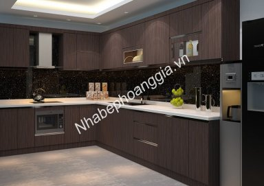 Mẫu tủ bếp gỗ Lamilate 10
