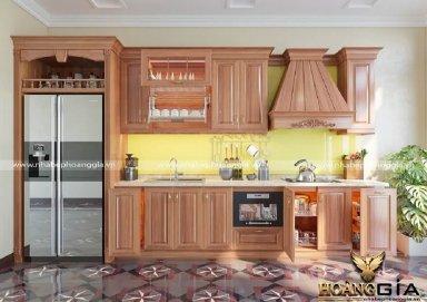Mẫu tủ bếp tân cổ điển TBCD02