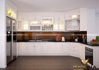Mẫu tủ bếp tân cổ điển TBTCD07