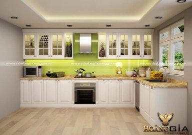 Mẫu tủ bếp tân cổ điển TBTCD10