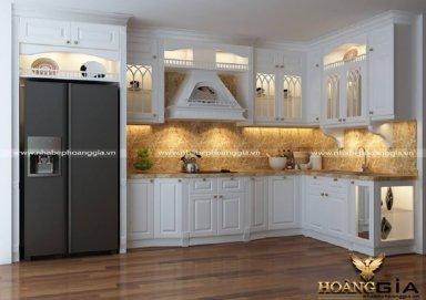 Mẫu tủ bếp tân cổ điển TBTCD11