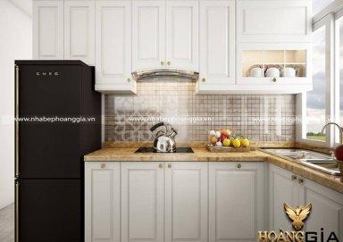 Mẫu tủ bếp tân cổ điển TBTCD15