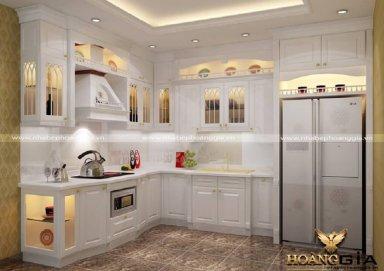 Mẫu tủ bếp tân cổ điển TBTCD18