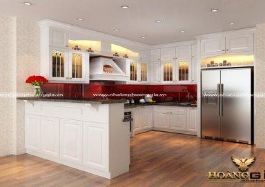 Mẫu tủ bếp tân cổ điển TBTCD21