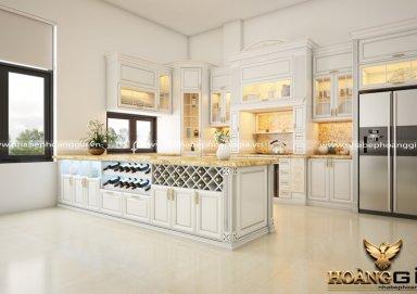 Mẫu tủ bếp tân cổ điển TBTCD22