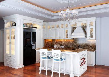 Mẫu tủ bếp đẹp tân cổ điển TBTCD24