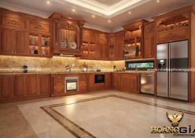 Tìm hiểu tại sao giá thành tủ bếp gỗ gõ đỏ luôn cao?