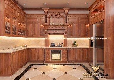 Những điều cần biết trong thi công tủ bếp gỗ tự nhiên