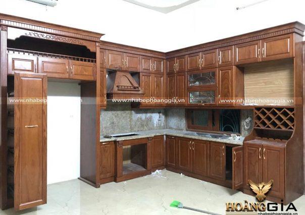 Dự án thi công tủ bếp nhà anh Hùng (Đông Anh, Hà Nội)