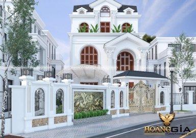 Dự án thiết kế ngoại thất biệt thự 3 tầng tân cổ điển nhà anh Tài – Thành Phố Huế