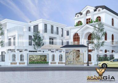 Mẫu thiết kế biệt thự tân cổ điển Pháp 3 tầng đầy thu hút