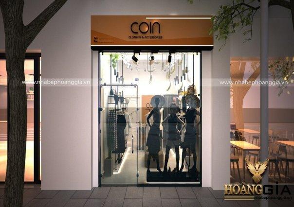 Thiết kế nội thất cửa hàng thời trang COIN Clothink & Accessories
