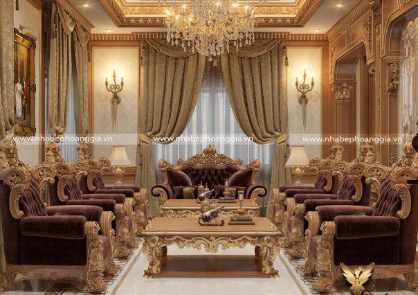 Dự án thiết kế thi công nội thất tân cổ điển biệt thự nhà anh Đại (Hà Tĩnh)