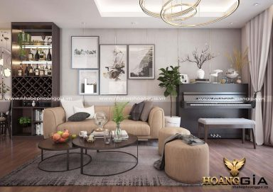 Mẫu thiết kế nội thất chung cư 80m2 tinh tế đầy thanh lịch