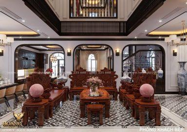 Thiết kế nội thất biệt thự Indochine nhà chị Thúy (Vinhomes Ocean Park)