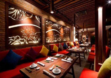 Thiết kế nhà hàng ăn chay đầy yên bình và thanh tịnh