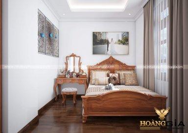 Mẫu thiết kế nội thất phòng ngủ đẹp tân cổ điển TCĐ 38