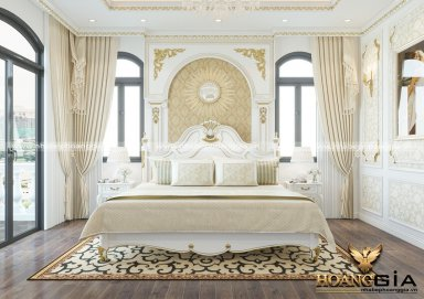 Mẫu thiết kế phòng ngủ với nội thất tân cổ điển TCĐ 40