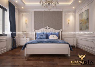 Mẫu thiết kế nội thất phòng ngủ đẹp tân cổ điển TCĐ 30