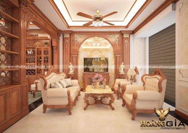 Mẫu thiết kế nội thất tân cổ điển cho nhà phố sang trọng