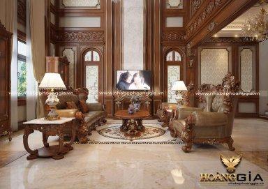 Rực rỡ với nét đẹp cổ điển trong không gian phòng khách biệt thự