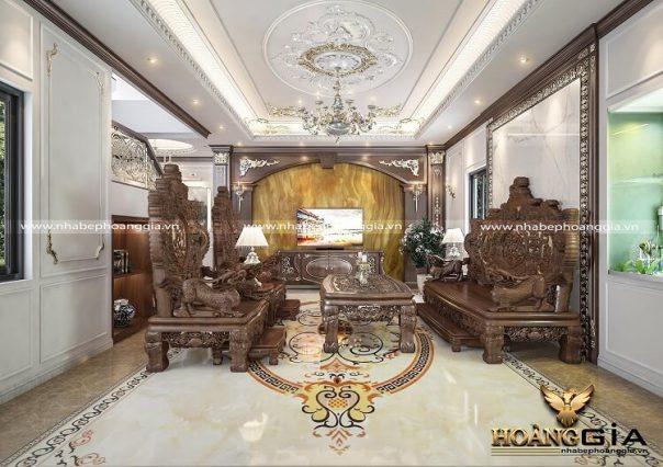 Dự án thiết kế thi công nội thất khách bếp nhà anh Trung (Hà Nam)