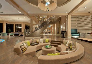 Thiết kế phòng khách chìm – Giải pháp chia tách không gian hoàn hảo