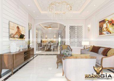 Xu hướng thiết kế phòng khách liên thông bếp 2020