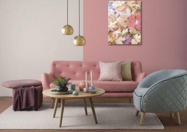 Bật mí ý tưởng thiết kế phòng khách màu hồng nhẹ nhàng đầy tinh tế