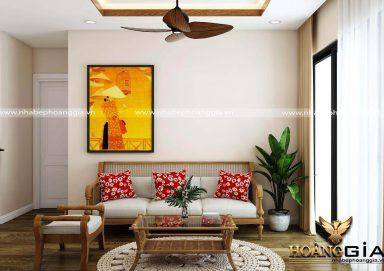 Thiết kế phòng khách nhà chung cư với ý tưởng độc đáo