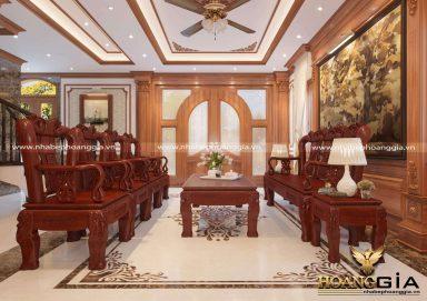 Mẫu phòng khách đẹp đẳng cấp với sofa đồng kỵ