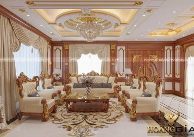 Thiết kế phòng khách tân cổ điển hoàng gia đẳng cấp
