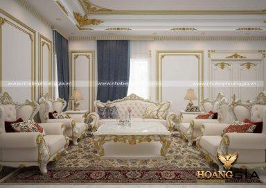 Rung động trước mẫu thiết kế phòng khách tân cổ điển cao cấp sang trọng