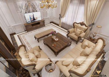 Công trình thiết kế nội thất tân cổ điển nhà chị Huệ (Bắc Giang)