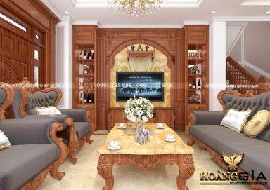 Ý tưởng thiết kế phòng khách tân cổ điển cho nhà phố sang trọng