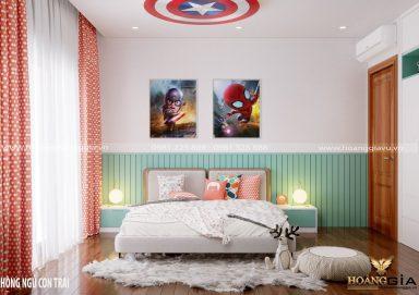 Mẫu thiết kế phòng ngủ cho bé trai năng động đầy tươi mới
