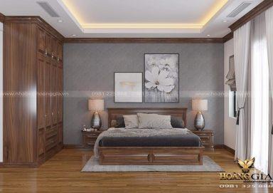Ý tưởng thiết kế phòng ngủ hiện đại gỗ tự nhiên đơn giản