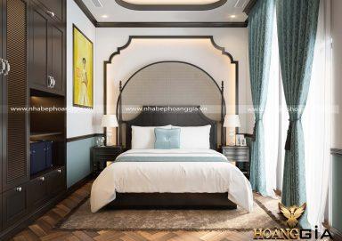 Ý tưởng phòng ngủ khách phong cách Indochina nhà chị Thúy (Vinhomes Ocean Park)