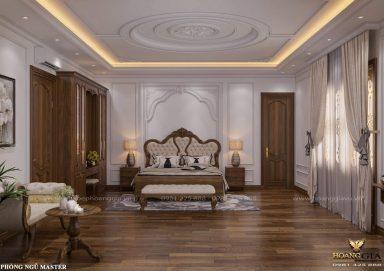Dự án thiết kế nội thất biệt thự tân cổ điển nhà anh Ngọc (Phú Diễn, Hà Nội)
