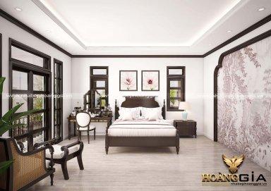Mẫu thiết kế phòng ngủ phong cách Indochine truyền thống đầy tinh tế