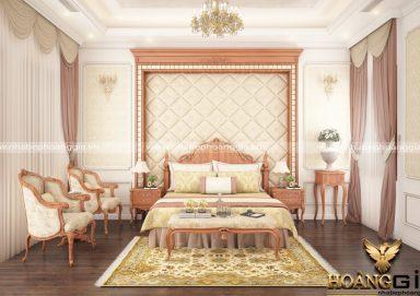 Mẫu thiết kế phòng ngủ với nội thất tân cổ điển PNTCD 03