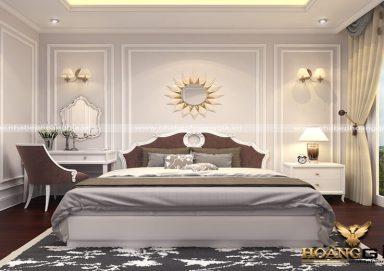 Mẫu thiết kế phòng ngủ phong cách tân cổ điển PNTCD 04