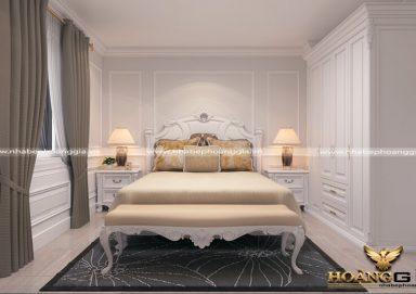 Mẫu thiết kế phòng ngủ đẹp với phong cách tân cổ điển PNTCD 05