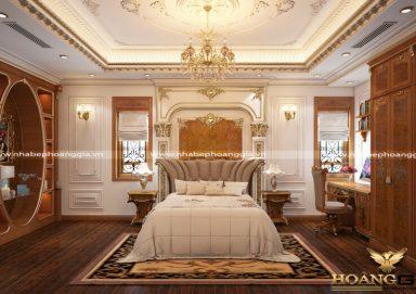 Mẫu thiết kế phòng ngủ với nội thất tân cổ điển PNTCD 06