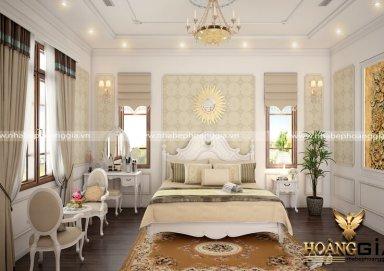Mẫu thiết kế phòng ngủ nội thất tân cổ điển PNTCD 11