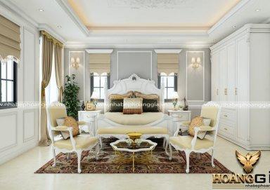 Mẫu thiết kế phòng ngủ phong cách tân cổ điển PNTCD 12
