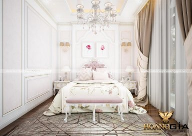 Mẫu thiết kế phòng ngủ tân cổ điển PNTCD 18