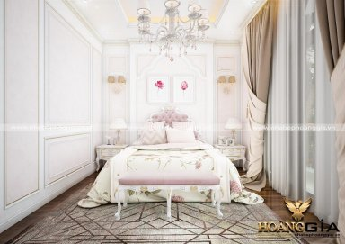 Mẫu thiết kế phòng ngủ phong cách tân cổ điển PNTCD 18