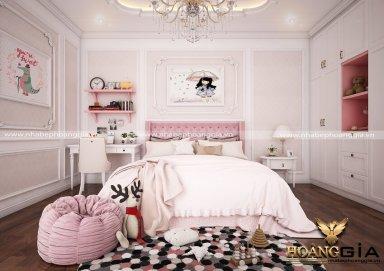 Mẫu thiết kế phòng ngủ với nội thất tân cổ điển PNTCD 19