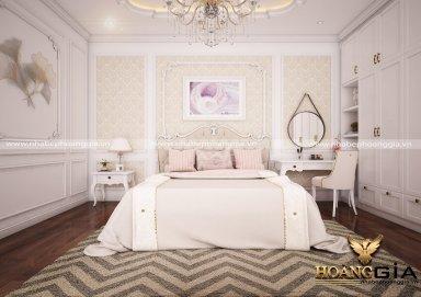 Mẫu thiết kế phòng ngủ đẹp phong cách tân cổ điển PNTCD 21